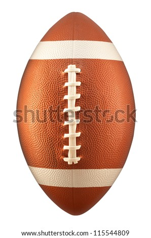 American Football isolated on a white background - stock photo
