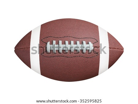 American football isolated on white background. Clipping path