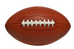 American football isolated on white background. This has clipping path.