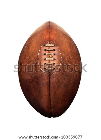 American football isolated over a white