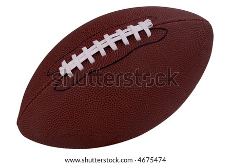 American football isolated over a white background