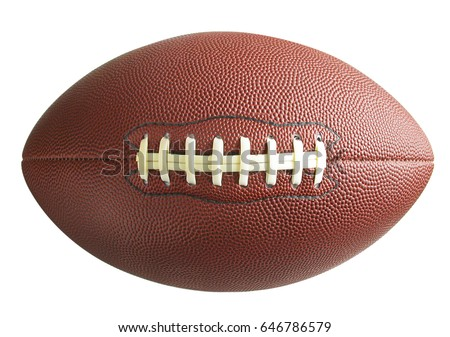 American football isolated top view