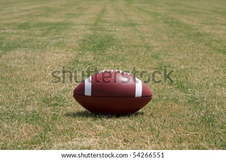 American Football on a natural grass field with room for copy