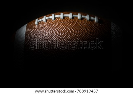 American football on dark background. Super bowl #788919457