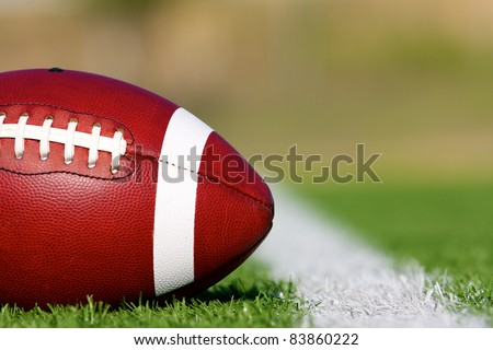 American Football on the Field near First Down