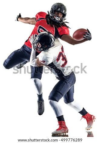 american football players men isolated #499776289