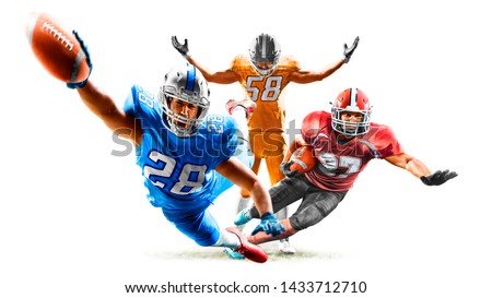 american football players men isolated on white