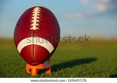 American Football ready for kickoff