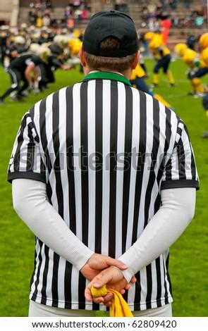 American football referee - stock photo