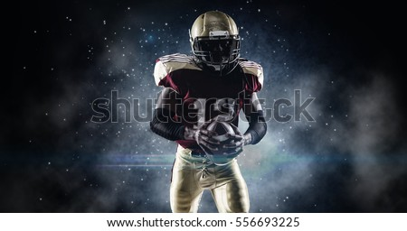 American football sportsman player #556693225