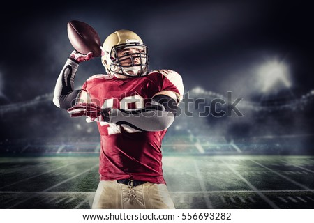 American football sportsman player #556693282