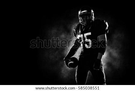 American football sportsman player #585038551