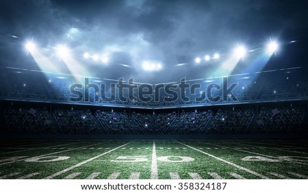 Shutterstock american football stadium