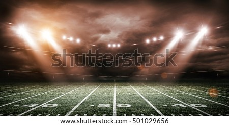 american football stadium 3d rendering