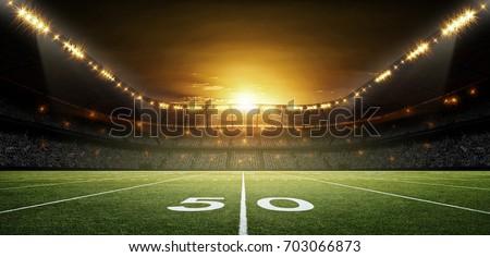 American football Stadium, 3d rendering