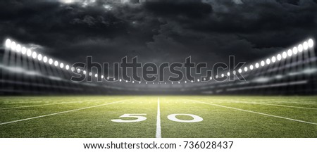 American football Stadium, 3d rendering