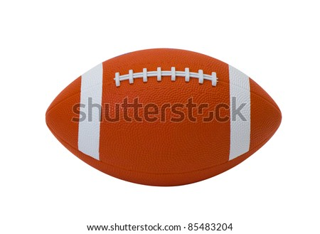 American football the most popular sport game isolated on white  #85483204