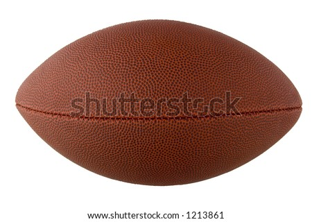 American Football with clipping path