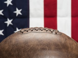 American Football with Flag Background