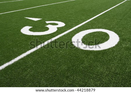 American Football 30 Yard Line