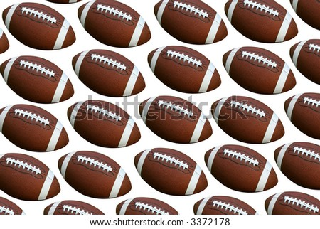 American footballs isolated over a white background