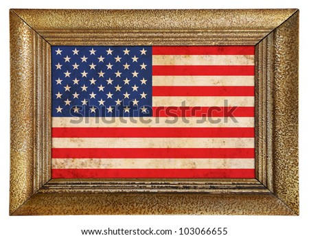 American framed flag background