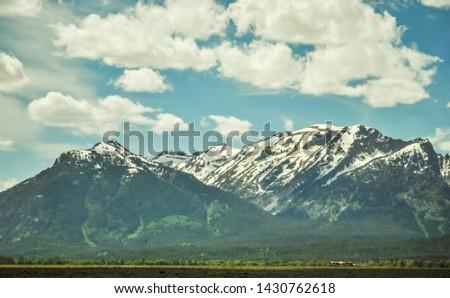 American Grand Teton Snow Mountain Scenery #1430762618