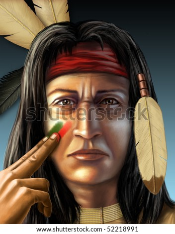 American Indian War Paint Symbols American indian warrior