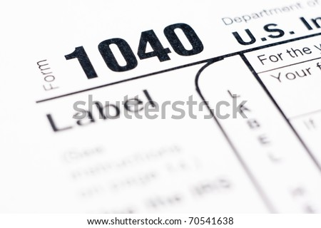 American Individual Tax form 1040 for year 2010