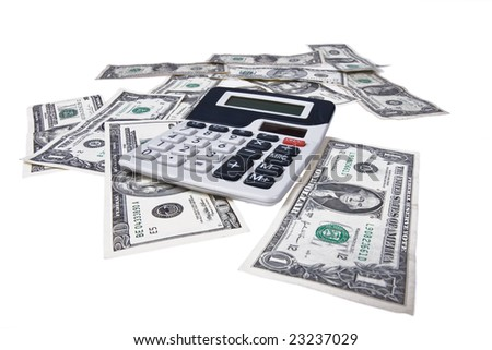 american money with calculator