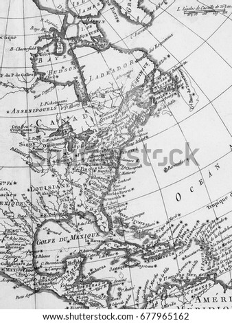 American old map #677965162