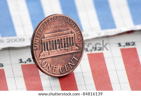 American one cent on newspaper chart