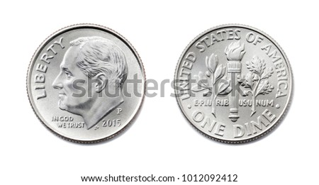 american one dime  usa ten cent ...
