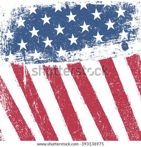 American patriotic grunge background. Raster version.