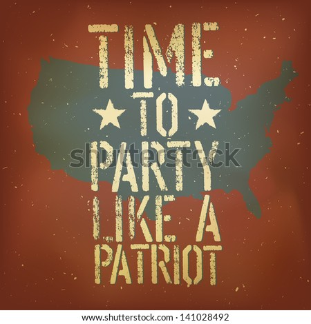 American patriotic poster. Raster version, vector file available in my portfolio.