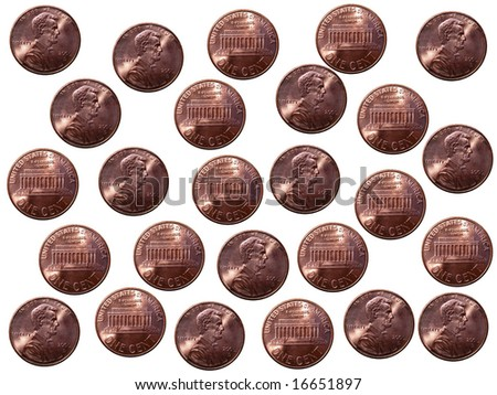 American Pennies Background