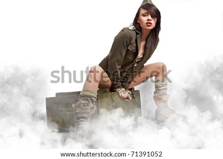 american pin-up army girl