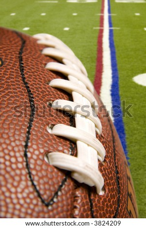 American Pro Football over the field of play - stock photo