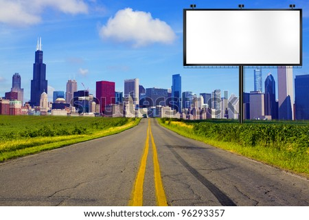 American Road with Billboard