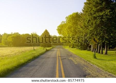 American Road with SunLight