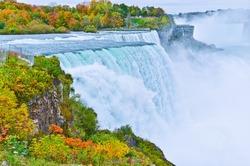 American side of Niagara Falls in autumn