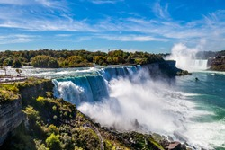 American side of Niagara falls, NY, USA