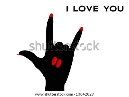 American Sign Language i Love You Love You Sign Language