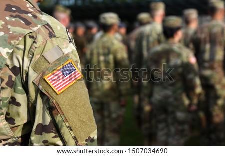 American Soldiers. US Army. US troops Сток-фото ©
