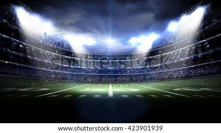 american stadium night