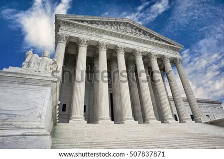 American Supreme Court building in Washington DC. ストックフォト ©