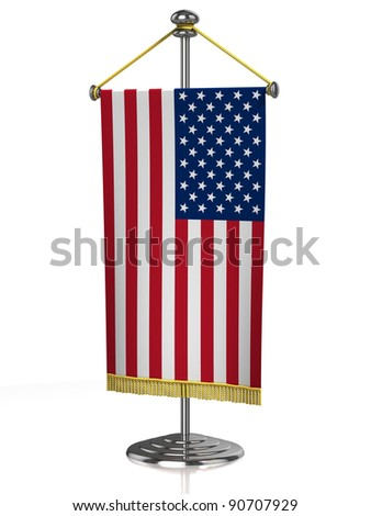 american table flag isolated on white