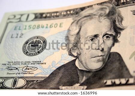 American twenty dollar, Andrew Jackson