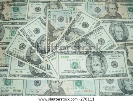 American twenty dollar bills