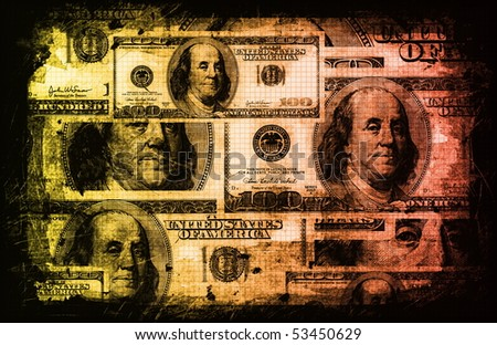American US Dollars Currency Abstract Background